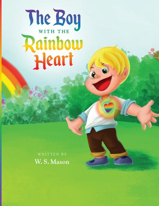 boy with the rainbow heart